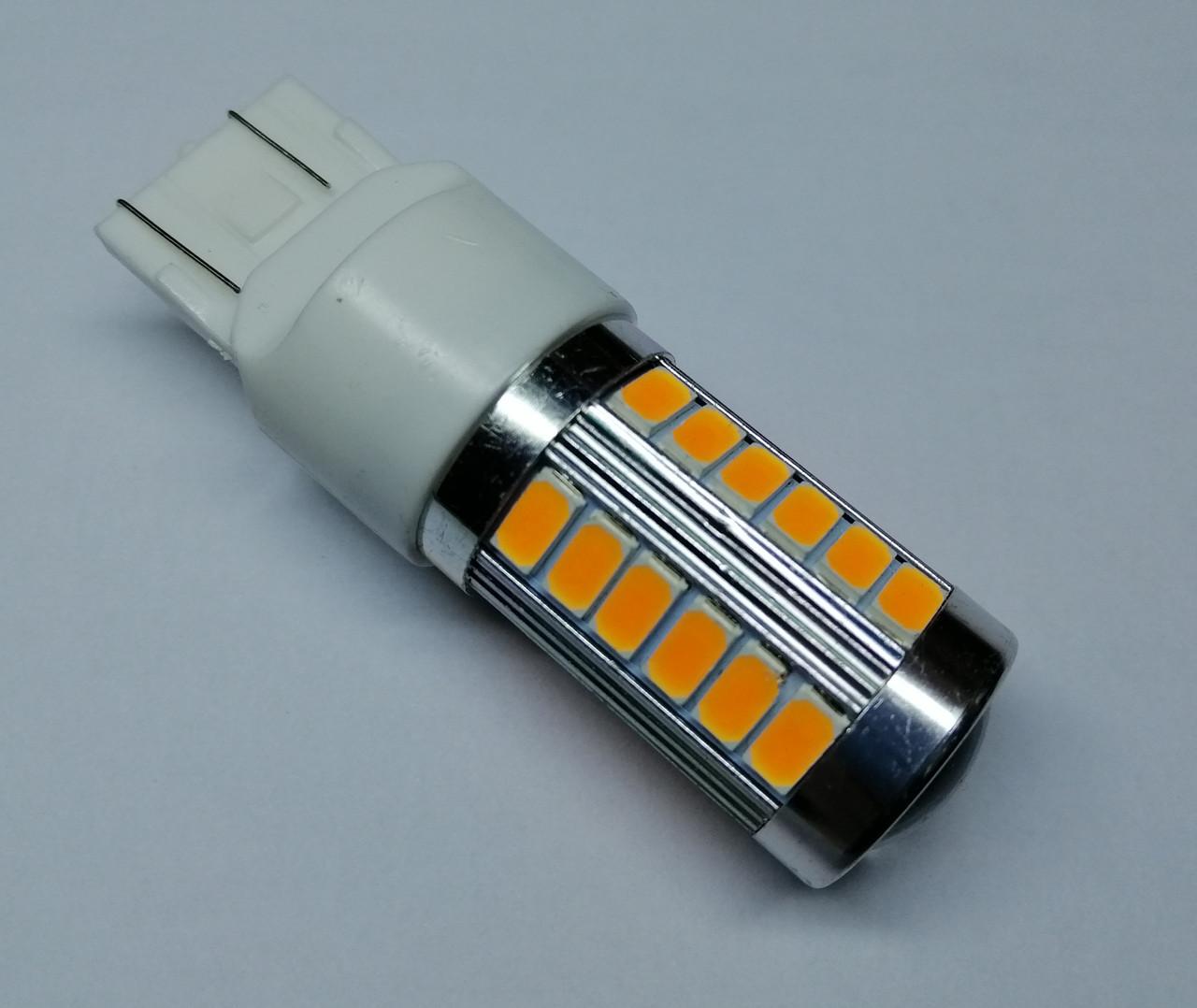 Лампа автомобільна світлодіодна ZIRY T20 - W21W, жовта