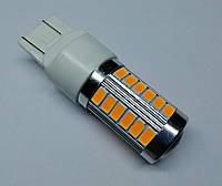 Лампа автомобільна світлодіодна ZIRY T20 - W21W, жовта, фото 1