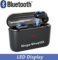 Беспроводные Bluetooth наушники HBQ-Q32 TWS с кейсом для зарядки Box - 1500 мАч с цифровым индикатором заряда