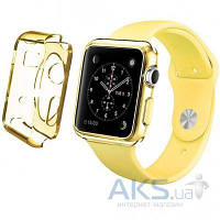 iBest чехол для Apple Watch 42mm TPU Case Clear Yellow