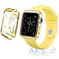 iBest чехол для Apple Watch 42mm TPU Case Clear Yellow