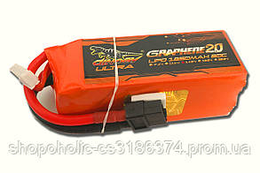 Аккумулятор Dinogy ULTRA G2.0 Li-Pol 1850mAh 14.8V 4S 80C XT60 96x34.5x34.5мм