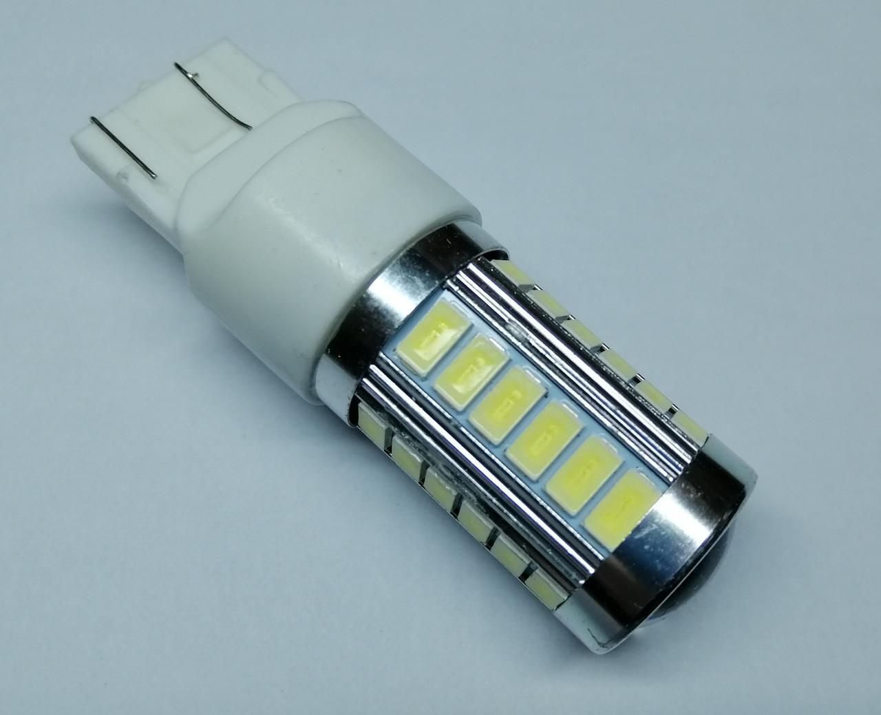 Лампа автомобільна світлодіодна ZIRY T20 - W21W, біла