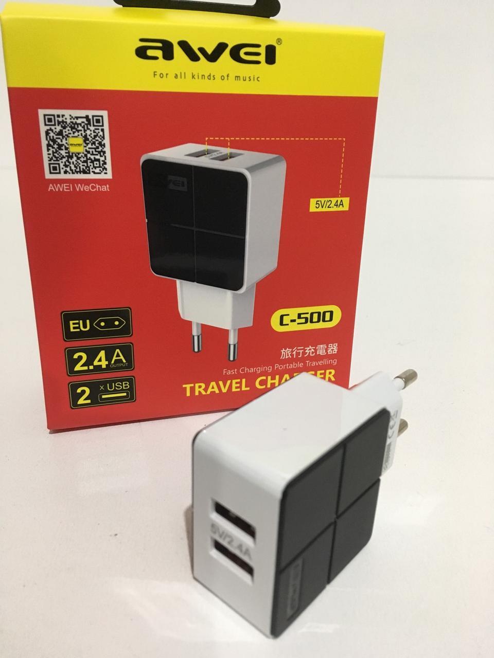 Адаптер 2 usb AWEI C500/6807 (120 шт/ящ)