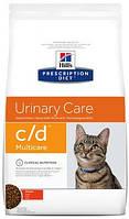 Hill's C/D Лечебный корм для кошек Хиллс при мочекаменной болезни 10 кг