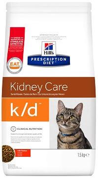 Лечебный корм для кошек Hill's К/D при почечной недостаточности 5 кг