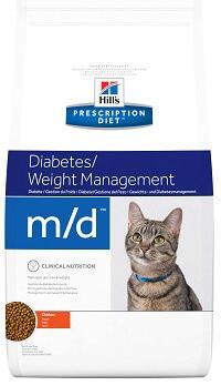 Hill's M/D Лечебный корм для кошек при сахарном диабете и ожирении 5 кг