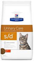 Hill's S/D Лечебный корм для кошек Хиллс при мочекаменной болезни 5 кг