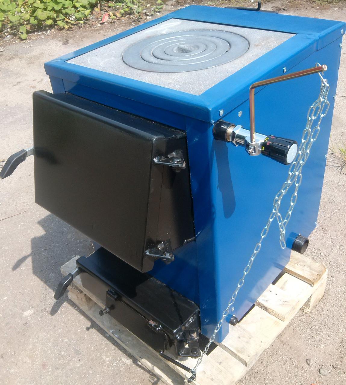 Котли-плити твердопаливні БілЕко-10П на вугіллі, брикетах, дровах