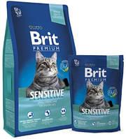 Brit Premium для кошек Корм Брит Премиум Cat Sensitive 8 кг