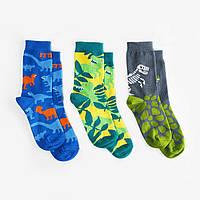 Детские носки Dodo Socks Dino 7-10 лет, набор 3 пары