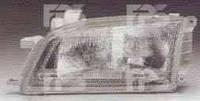 Фара левая Toyota Carina E 92-97 механическая стеклянный рассеиватель (DEPO)
