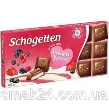 Шоколад Schogetten  Cream & Berries 100г, Германия