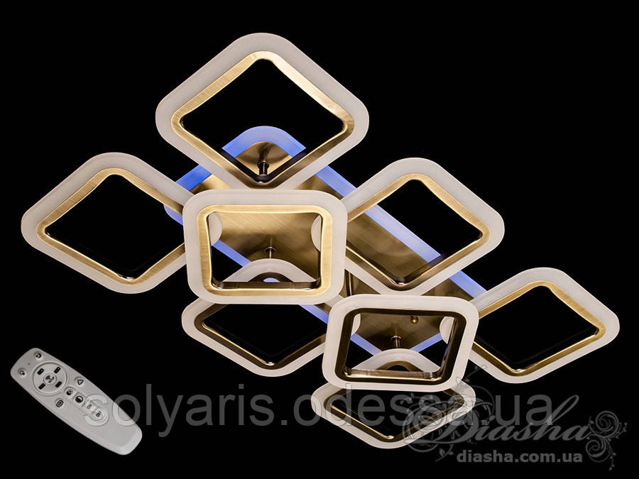 Потолочная LED-люстра с диммером и подсветкой, 100W MX2400/6+2S BR LED 3color dimmer