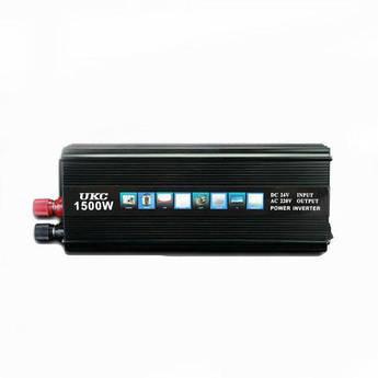 Инвертор преобразователь авто UKC 24V-220V 1500W