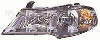 Фара правая Daewoo Nexia 08- электрический корректор черная H7 H1 PY21W W5W (DEPO)