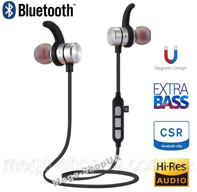 Наушники и гарнитура беспроводные Bluetooth M11-1 / MP3 плеер. Вакуумные наушники. Бездротові навушники