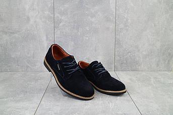 Подростковые туфли замшевые весна/осень синие Yuves М5 (Trade Mark)