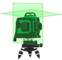 Лазерный уровень нивелир 3D 12 линий со штативом MHZ 5179 Green