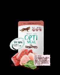 Пауч Optimeal Adult Оптіміл з телятиною, курячим філе і шпинатом в соусі для кішок без зерновий 85г