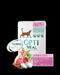 Пауч Optimeal Adult Оптіміл з ягням і овочами в желе для дорослих кішок 85 г