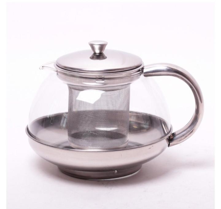 Заварник для чая стеклянный со съемным ситечком Kamille. 800 мл
