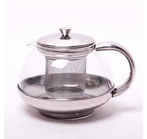Заварник для чая стеклянный со съемным ситечком Kamille. 600 мл