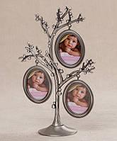 Фоторамка родовое дерево на 3 фото. 23 см