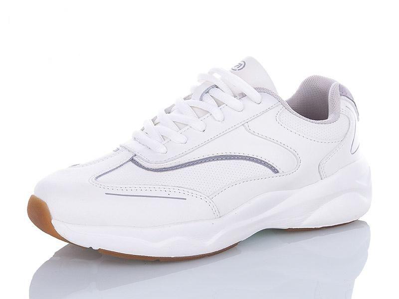 Жіночі кросівки Restime шкіряні білі