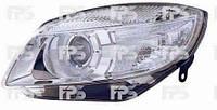 Фара правая Skoda Fabia, Roomster 07- электрокорректор Н7 линзованная (DEPO)