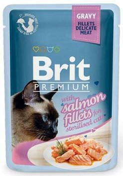 Brit Premium Для стерилизованных кошек Филе лосося в соусе 85 гр