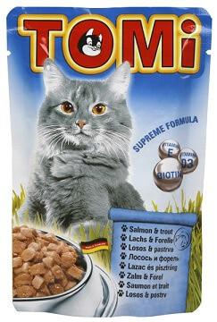 Tomi Salmon Trout  Консервы для кошек Томи с лососем и форелью 0,4 кг
