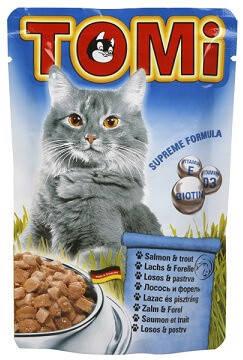 Tomi Salmon Trout  Консервы для кошек Томи с лососем и форелью 0,4 кг, фото 2