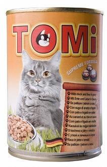 Tomi Duck Liver Консервы для кошек Томи Утка с печенью 0,4 кг, фото 2