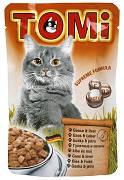 Tomi Goose Liver Вологий корм Томі для кішок гусак з печінкою 100 гр