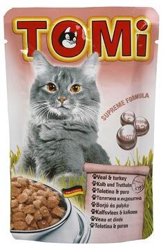 Tomi Veal Turkey Влажный корм для кошек Томи с телятиной и индейкой 100 гр