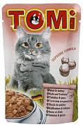 Tomi Veal Turkey Вологий корм для кішок Томі з телятиною та індичкою 100 гр
