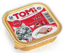 Консерви для кішок Tomi (Томі) Veal Poultry яловичина та птиця паштет 100 гр