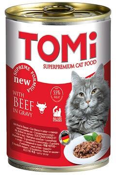 Влажный корм для кошек Консервы Tomi (Томи) Beef Говядина 0,4 кг