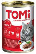 Вологий корм для кішок Консерви Tomi (Томі) Beef Яловичина 0,4 кг