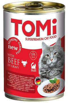 Влажный корм для кошек Консервы Tomi (Томи) Beef Говядина 0,4 кг, фото 2