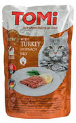 Tomi Turkey Spinach Консерви для кішок Індичка в шпинатом желе 100 гр