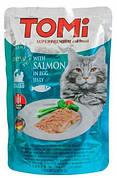 Tomi Salmon Консерви для кішок Томі Лосось в яєчному желе 100 гр