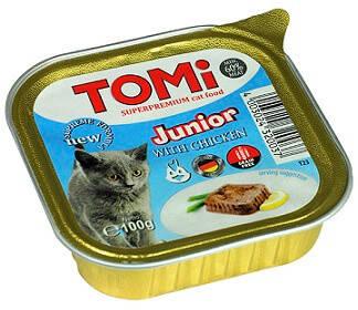 Tomi (Томі) Junior Вологий корм для кошенят з куркою паштет 100 гр, фото 2