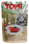 Tomi Poultry in Tomato Консерви для кішок Птах в томатному желе 100 гр