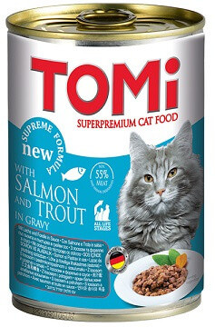 Консервы для кошек Tomi (Томи) Salmon Trout Лосось и форель 0,4 кг