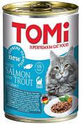 Консерви для кішок Tomi (Томі) Salmon Trout Лосось і форель 0,4 кг