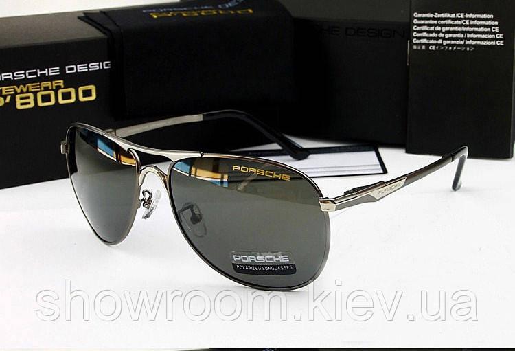 Солнцезащитные очки в стиле Porsche Design c поляризацией p-8722 (silver)