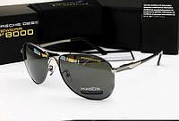 Солнцезащитные очки в стиле Porsche Design c поляризацией p-8722 (silver), фото 1