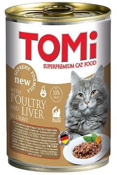 Консервы для кошек Tomi (Томи) Poultry Liver Птица-печень 0,4 кг